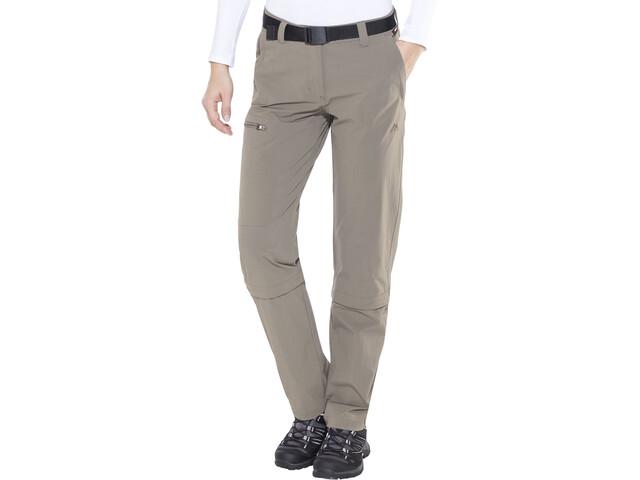 Maier Sports Arolla Pantalones Zip-Off Mujer, teak